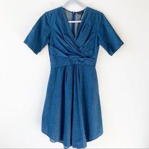 COS Denim Short Sleeve Dress